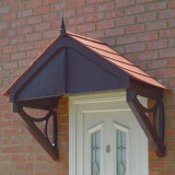 KoverTek Blakemore Canopy with Brown Frame and Terracotta Roof