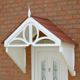 KoverTek Dorchester Canopy with White Frame and Terracotta Roof
