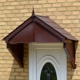 KoverTek Highgrove Canopy with Brown Frame and Brown Roof