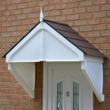 KoverTek Highgrove Canopy with White Frame and Brown Roof