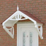 KoverTek Shaftesbury Canopy with White Frame and Terracotta Roof