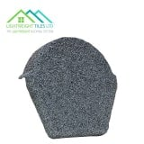 Lightweight Roof Tile Ridge End Cap - Granite Grey