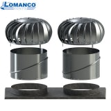 Lomanco Vent Turbine Set BIB14 with 2 Necks & Base