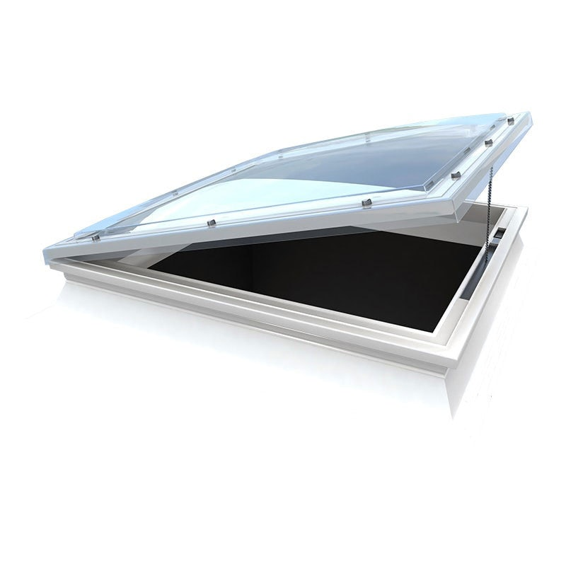 Mardome Trade Triple Skin Opening Rooflight in Clear Tall Kerb 300mm - 600mm x 600mm