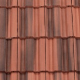 Redland 50 Double Roman Right Hand Cloaked Verge Tile - Farmhouse Red