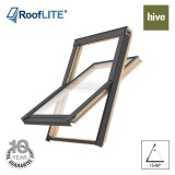 RoofLITE HIVE Centre Pivot Pine Roof Window - 114cm x 118cm