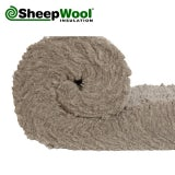 SheepWool Loft Insulation Premium Roll - 4m x 380mm x 100mm 4.56m2 Pack