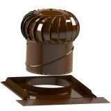 Lomanco Vent Turbine Pitched Roof Set BIB12 & Universal Base - Brown