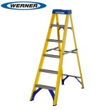 Werner 6 Tread Trade Fibreglass Step Ladder - BS 2037 EN131 Professional
