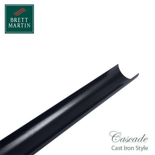 Cascade Cast Iron Style 305mm Round Downpipe Offset Bend - Grey