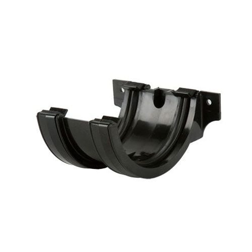 Plastic Guttering Half Round Style Union Bracket 112mm - Black