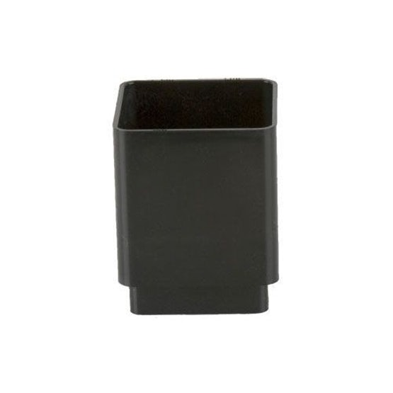 Plastic Guttering Square Downpipe Connector 65mm - Black