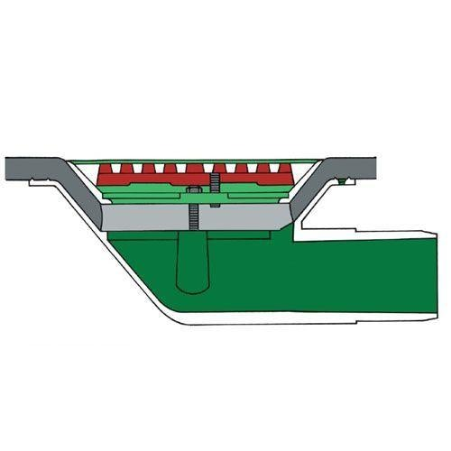 Aluminium Roof Rainwater Outlet 90 Degree Spigot 75mm - Flat Grate