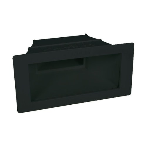Swimming Pool Skimmer Wide Extension Throat for Concrete - Black