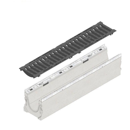 Video of Hauraton Faserfix KS150 Channel Drain & F900 Ductile Iron Slotted Grate - 1000mm