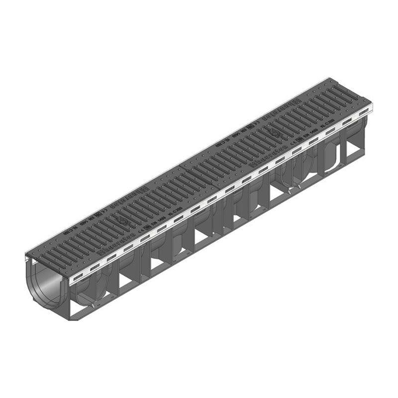 Hauraton Channel Drain Heelsafe Iron Grating 1m Recyfix Plus100 - D400