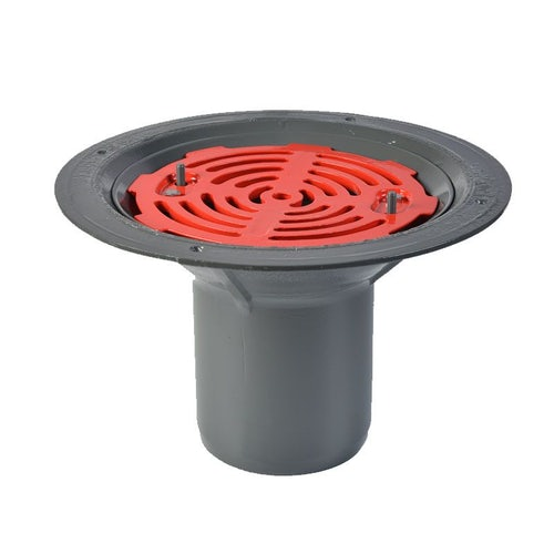 ACO Rainwater Roof Outlet Vertical Spigot with Flat Grate - 150mm