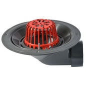 ACO Rainwater Roof Outlet 90dg Screw with Dome Grate - 100mm