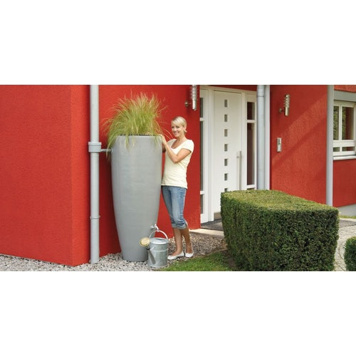 Garden Water Storage Tank Aboveground - Zinc Grey