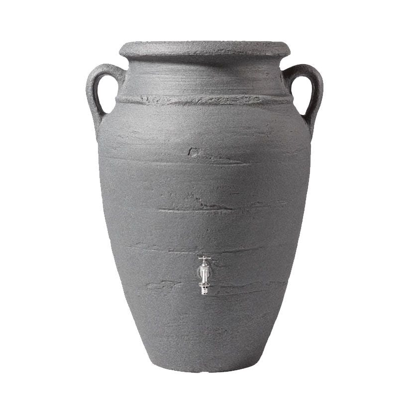 Video of Garden Water Storage Tank Aboveground 250L Amphora - Dark Granite