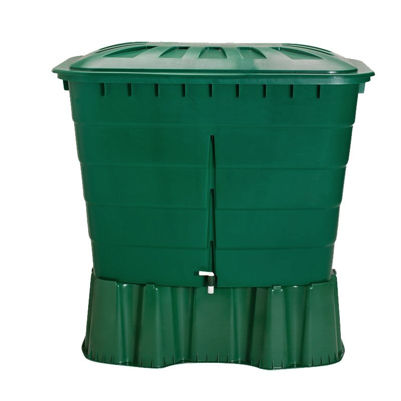 Video of Garden Water Storage Tank Square Water Butt 510L - Green
