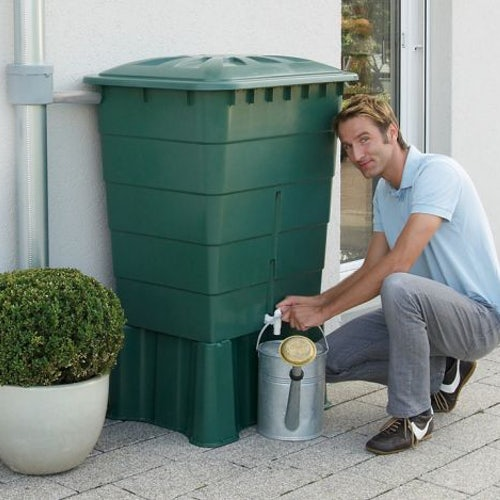 Garden Water Storage Tank Square Water Butt 510L - Green