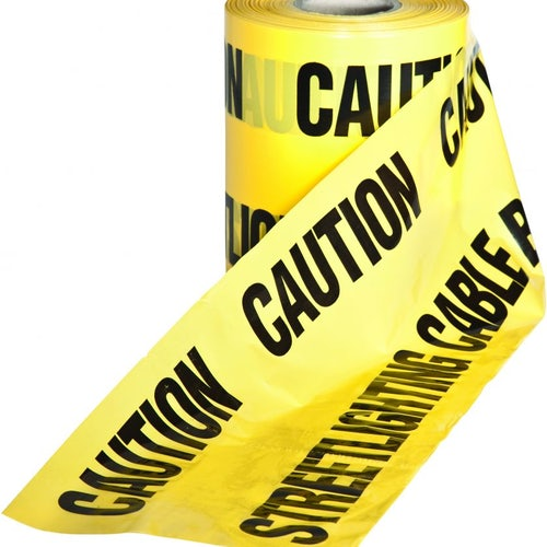 Underground Caution Warning Tape Yellow Street Lighting - 150mm x 365m