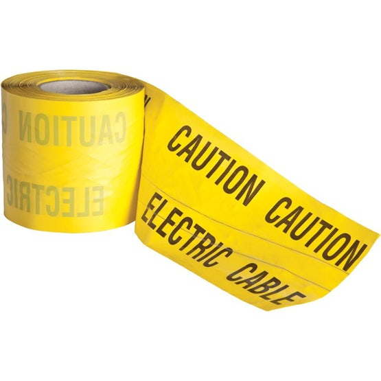 Detectable Underground Warning Tape Yellow Electric Cable 150mm x 100m
