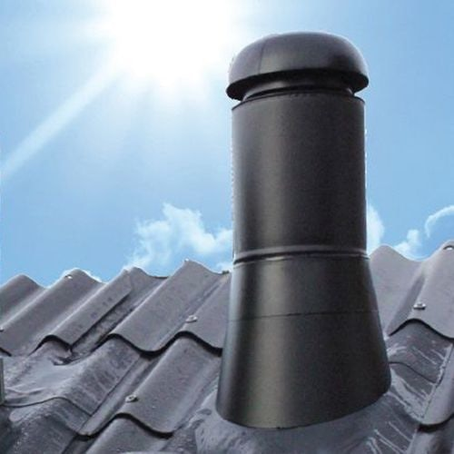 Sabetoflex 270mm Low Pitch Roof Pipe Outlet with Flashing - Anthracite