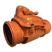 Underground Drain Sewer Pipe Non Return Valve Dek Drain - 110mm