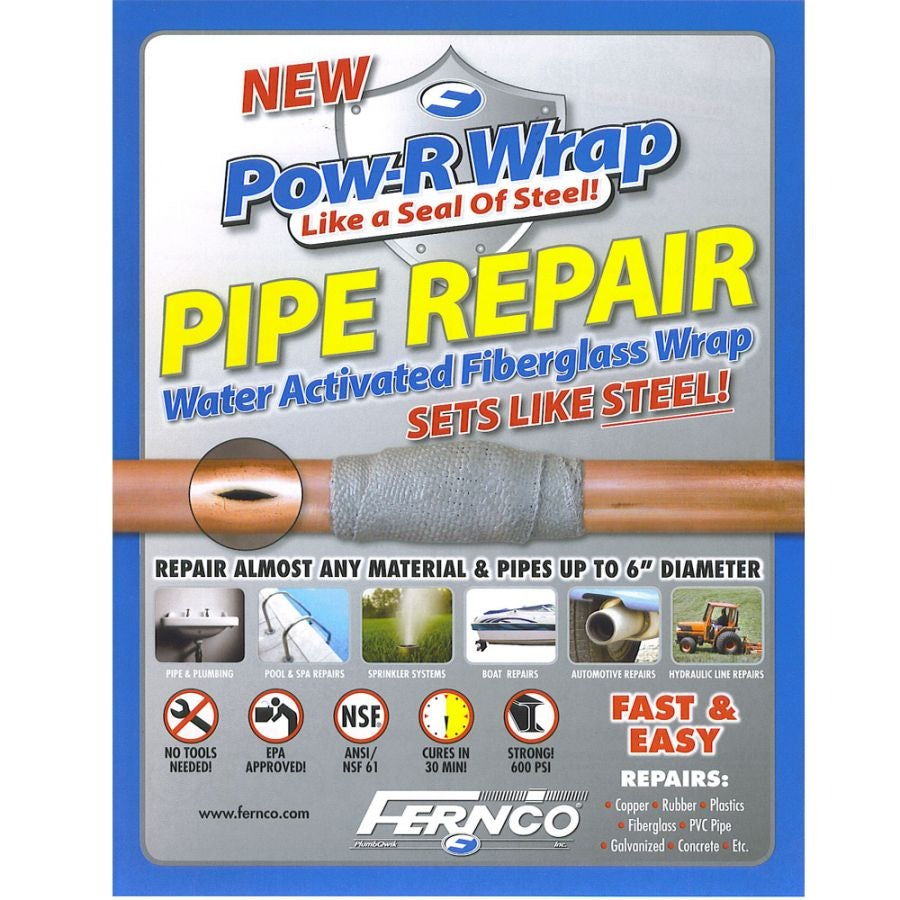 Video of Pipe Repair Kit Pow-R Wrap for Up to 74mm Pipe