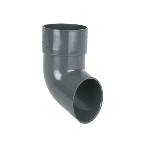 Plastic Guttering Round Downpipe Shoe 68mm - Anthracite Grey