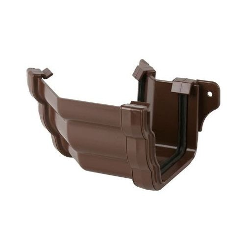 Plastic Guttering Ogee Prostyle 45 Degree External Angle 106mm Brown