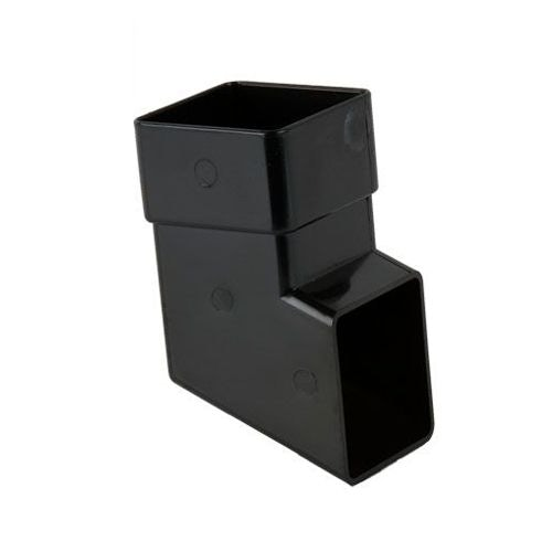 Plastic Guttering Square Downpipe Shoe 65mm - Black