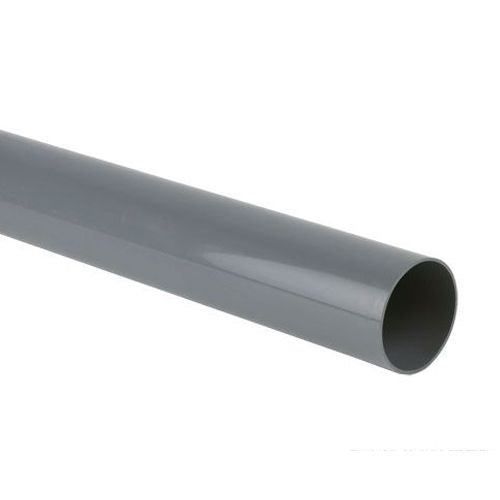 Plastic Guttering Round Style Downpipe 2.5m Length 68mm - Grey