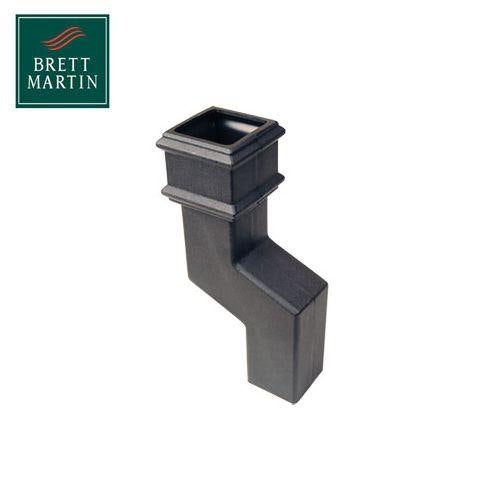 Cascade Cast Iron Style 150mm Square Downpipe Offset Bend - Black