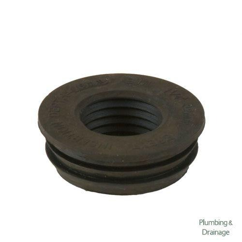 Cascade Cast Iron Style 1.25 Inch / 32mm Rubber Waste Adaptor (Black)