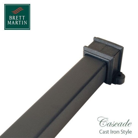 Cascade Cast Iron Style 65mm x 2.5m Socketed Pipe With Lugs - Black