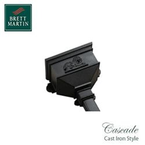 Cascade Cast Iron Style 65mm & 68mm Long Hopper With Lion (Black)