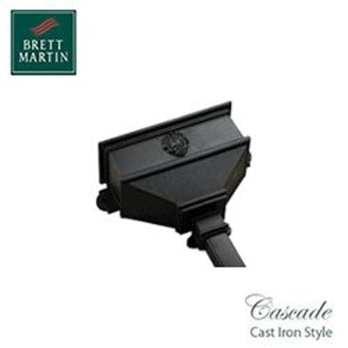 Cascade Cast Iron Style 65mm & 68mm Long Hopper With Shell (Black)