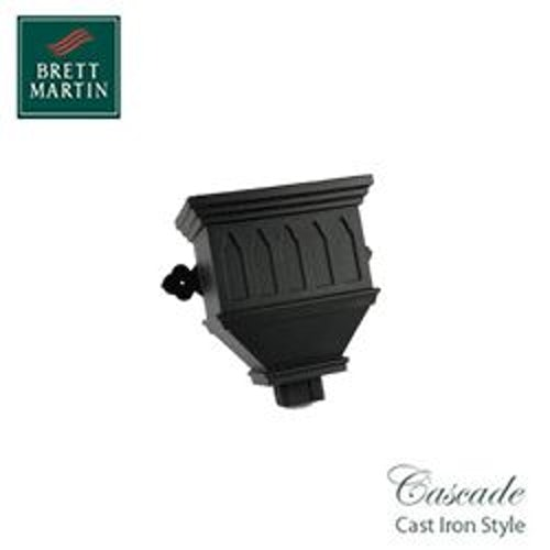 Cascade Cast Iron Style 100mm x 75mm Bath Hopper Windowed (White)