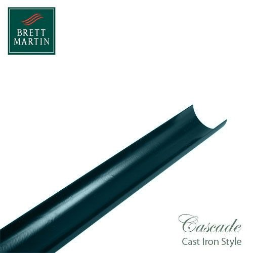 Cascade Cast Iron Style 112mm x 4m Plastic Roundstyle Guttering Green