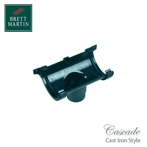Cascade Cast Iron Style 112mm Roundstyle Running Outlet - Green
