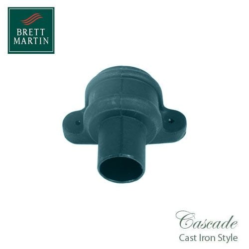 Cascade Cast Iron Style 68mm Plastic Pipe Coupler With Lugs - Green