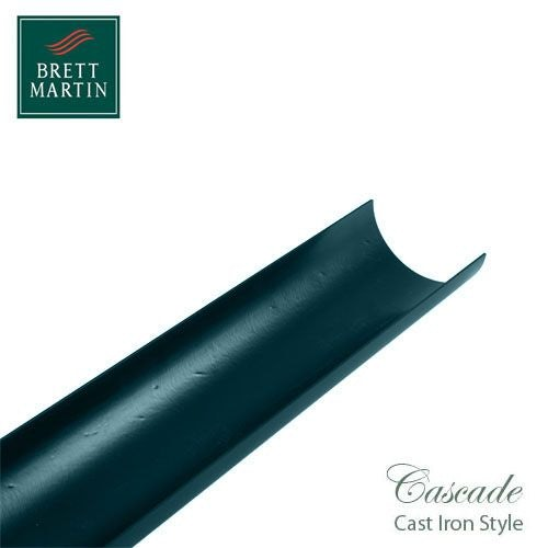 Cascade Cast Iron Style 170mm x 2m Plastic Half Round Guttering Green