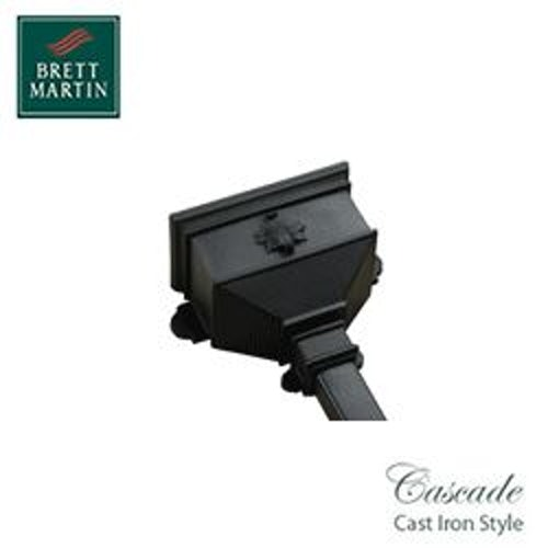 Cascade Cast Iron Style 65mm & 68mm Small Hopper With Leaf (Grey)