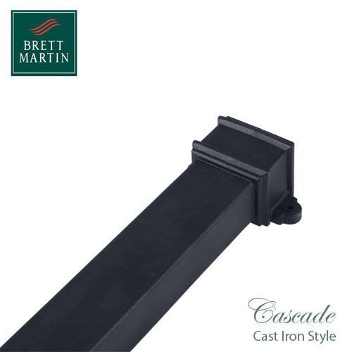 Cascade Cast Iron Style 100 x 75mm x 1.8m Socketed Pipe & Lugs (Grey)
