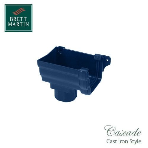 Cascade Cast Iron Style 106mm Prostyle Stopend Outlet L/H - Blue