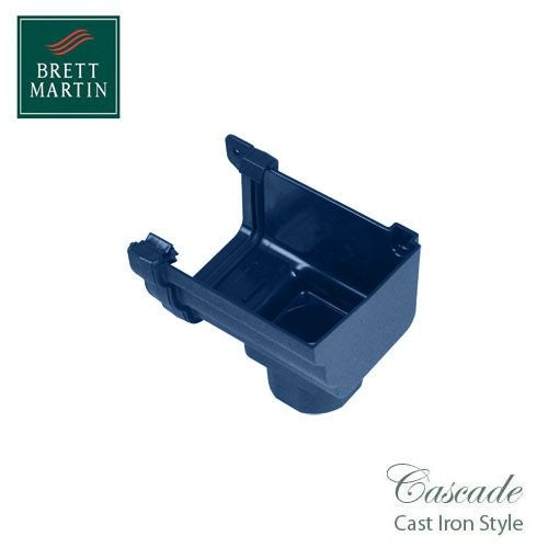 Cascade Cast Iron Style 106mm Prostyle Stopend Outlet R/H - Blue