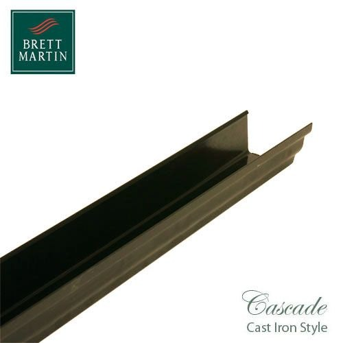 Cascade Cast Iron Style 106mm x 4m Plastic Prostyle Guttering - Sand